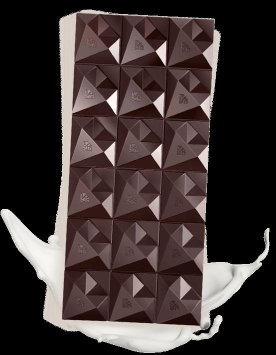 Reduced fat dark chocolate with no sugar added