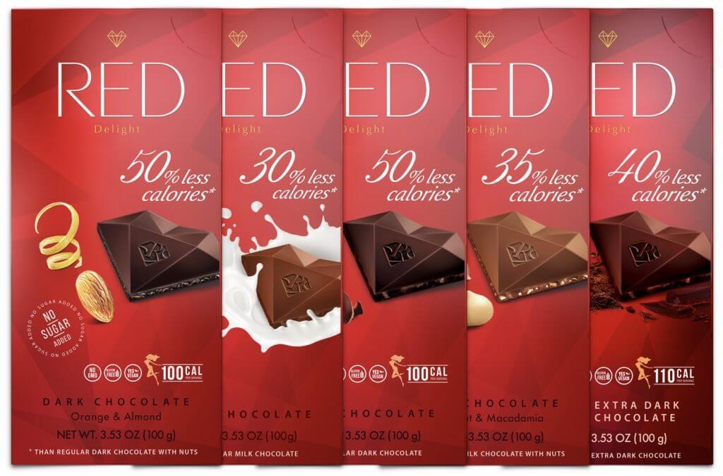 No sugar added, dark chocolate 5 pack chocolate bars