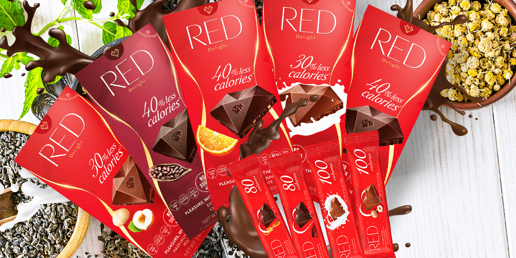 All RED, new packaging